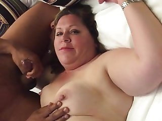 she stares at her cuck as a bbc comes on her face