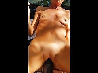 Beautiful skinny mature takes a big cock inside