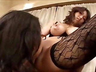 Japanese Lesbians Large Breast go at it