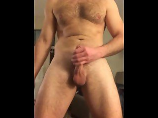 teasing, stroking, and cumming in a hotel room