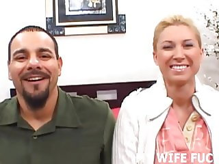 Watch your stunning wife get railed by a pornstar