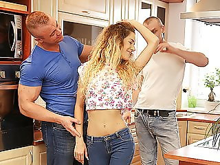 DADDY4K. Naughty dad unexpectedly seduces son's new young...