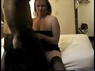 Husband records wifes motel fuck with BBC.