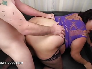 Getting stuck in doggy style and make those tits juggle