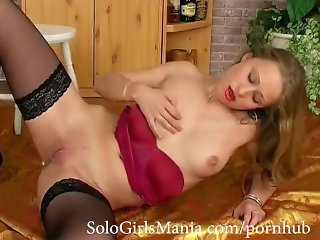 Young Blonde Babe playing with tight Pussy