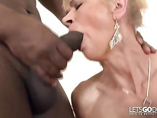 Old Grany Fucking with a black guy