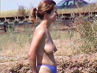 Big Big Nippels Topless By The Lake