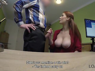 LOAN4K. Loan porn of Isabella Lui who hypnotizes manager with tits