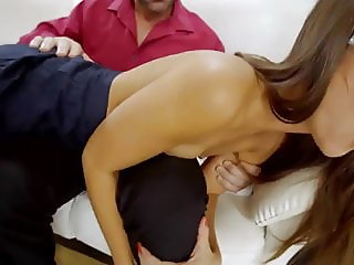 Flat Tits Gets Spanked and a Facial