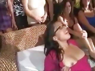 Bride to be fucked at hen party
