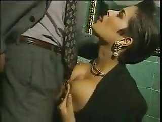 Elegant Italian Mature cheating husband on restaurant bathro