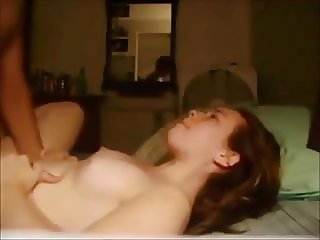 Amateur redhead erotic fuck at home