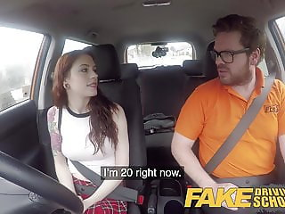 Fake Driving School USA babe Anna De Ville gets UK anal sex