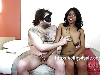 19 YEAR OLD BIG BOOB EBONY MYA GETS INTERVIEWED WHILE GIVING