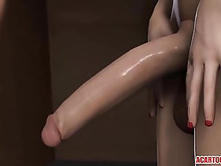 Hot 3D Elizabeth gets futanari cock in her cunt