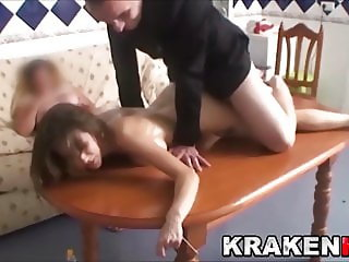 BDSM scene of an amateur couple who likes to watch