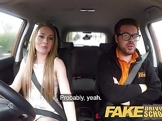 Fake Driving School Carmel Anderson ends lesson
