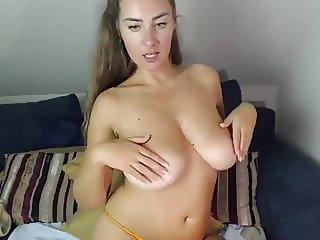 Larisa teasing with her big boobs on cam