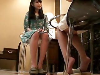 Frantic dirty sexy horny Japanese Lesbian Massage Sex