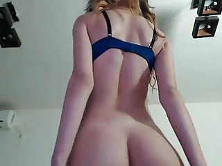 her lingerie and shaved pussy are very sexy