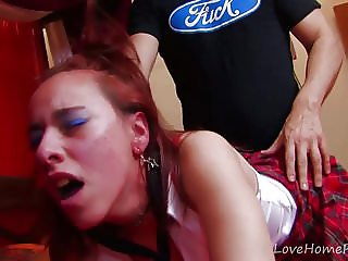 Bad Schoolgirl Gets Punished Hard With Cock.mp4