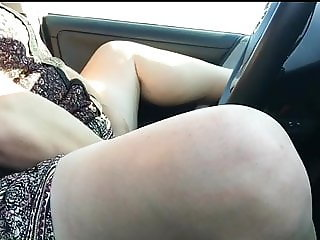 Female orgasm in car