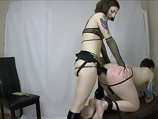CHASTITY FAGGOT GETS PEGGED HARD