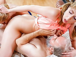 KINKY INLAWS - Hot blonde taboo trio sex with stepdad