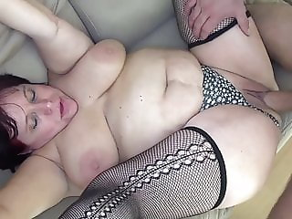 Horny gilf fucked by her stepson