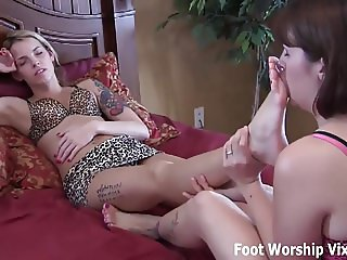 You need to relax with a hot little foot massage