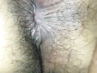 Hairy Mexican wife butt