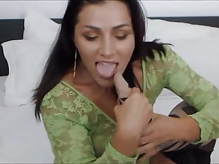 brunette lick her nylon feet and fuck her ass