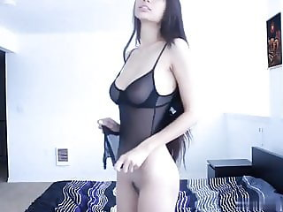 Sexy Petite Asian Strips and Dances Naked