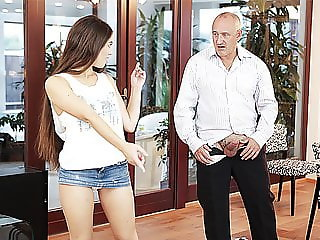 DADDY4K. Nice dad and young girl sex finishes with...