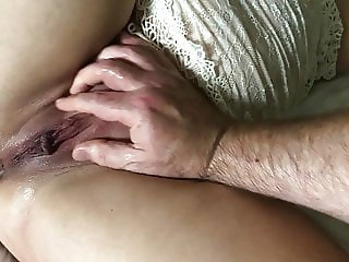 Pussy dripping with cum