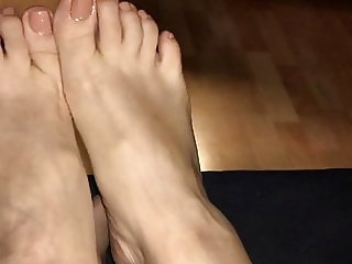 Multiple orgasm (4) with feet