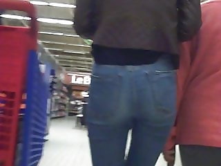 candid ass tigh jeans