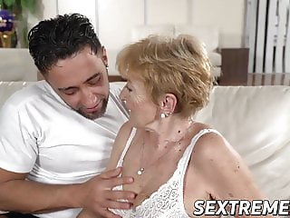 Saggy granny Mugur Malya receives facial after plowing