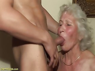 hairy granny in her first porn video