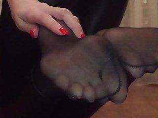 Teen nylon feet