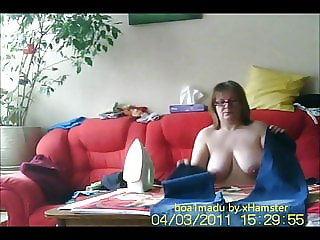 Wife Anneli totally naked for you