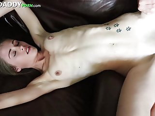 Tiny Teen Wants Help Paying For School So Fucks SugarDaddy