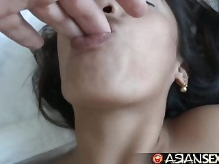 Asian Sex Diary - Filipina gets creampied by big white cock