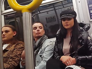 Euro tourists on train hidden cam