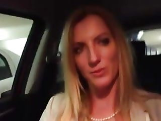 getting her tits fondled in the car park