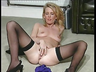 Enchanting blonde being wet and dirty