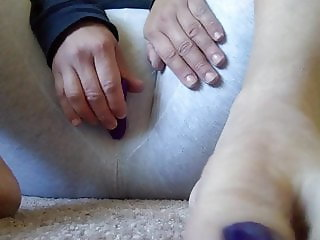 Painted my toe nails and then got horny