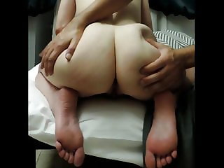 Big ass white girl goes crazy for cock