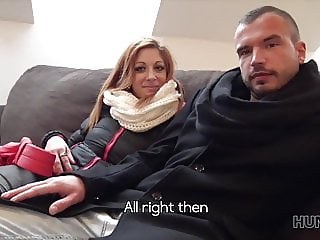 Grumpy cuckold made to watch GF's nasty sex with rich guy