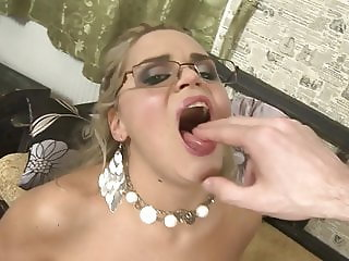 Beautiful blonde MILF gets big cock